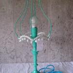 Lettkledd lampe